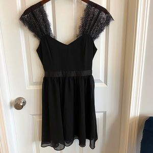 Forever 21 Black Dress with Lace Sleeves
